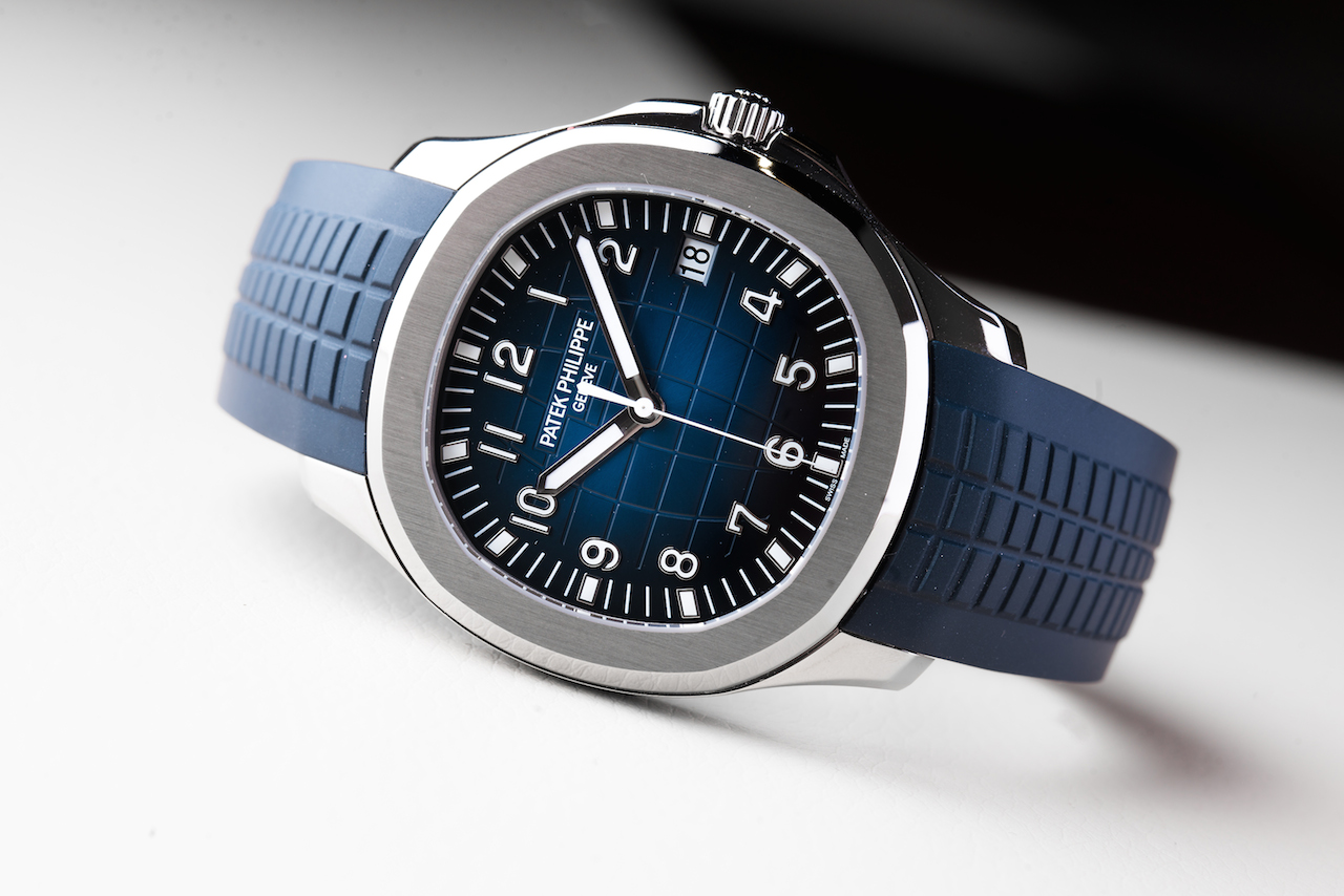 "Green or Blue? A Pair of Patek Philippe Aquanaut 5168G ""Jumbo"""