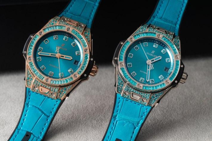 Turquoise Timepieces: Hublot Big Bang One Click Paraiba