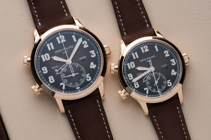 His and Her Watches : Patek Philippe Calatrava Pilot Travel Time