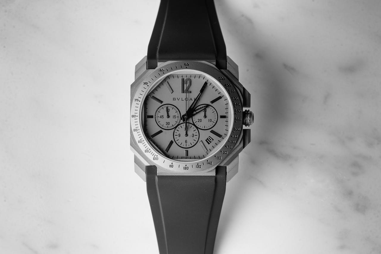 Titanium Watches: Bulgari Octo L'Originale Velocissimo Chronograph
