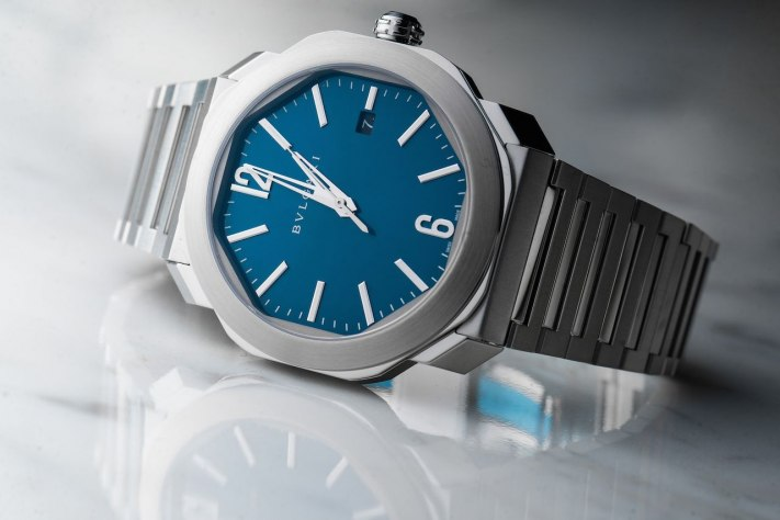 Blue Dial Watches: Bulgari Octo Roma