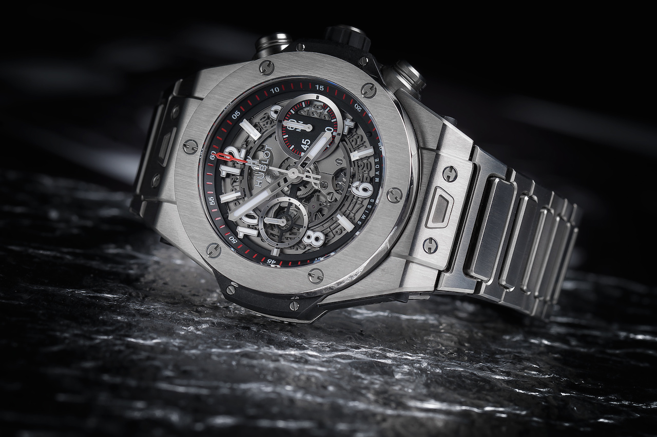 titanium watches: Hublot Big Bang Unico Titanium Bracelet