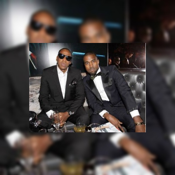Jay-Z, wearing a Richard Mille RM027 Tourbillon, with Kanye West